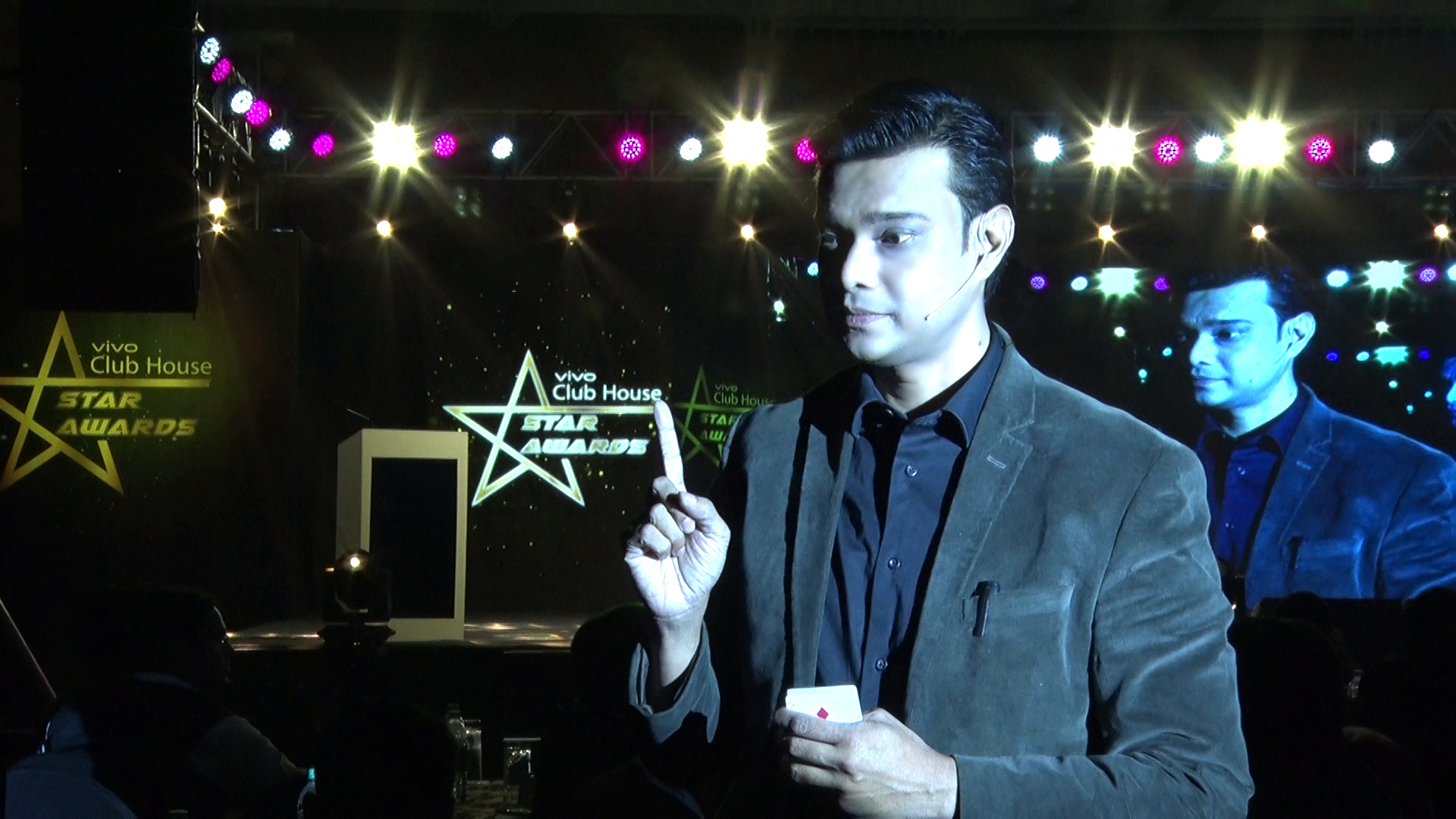 Corporate event entertainer in India Sourav Burman performing for the Vivo Star Awards in Kolkata
